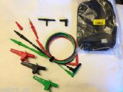 Unfused 3-Wire Ultimate Test Leads & Probes Set, Megger etc 17th Edition testers
